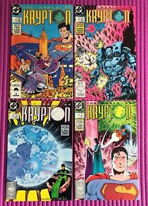 SUPERMAN the World of Krypton #1 2 3 4 Complete Mini Series, DC 1987