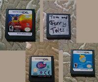 Nintendo DS Game Lot 4x Kung ZhuZhu Puppies Littlest Pet Shop Winter Tom & Jerry