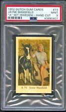 1952 Dutch Gum Card A Set #73 JAYNE MANSFIELD Actress with Horse PSA 9 MINT