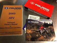Oem 2003 Universal Polaris Atv Manual With Video 9917492
