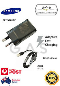 Genuine SAMSUNG Adaptive FAST Wall Charger Type C cable For Galaxy S9 S8 Note 9