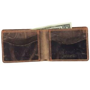 Hanks Bi-Fold Goatskin Wallet - Holds 8-13 Cards - USA Made, Vintage Brown