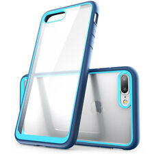 For iPhone 7 8 Plus Slim Hybrid TPU Bumper Shockproof Case Clear Hard Back Cover