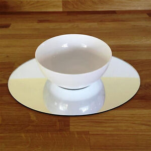 Oval Placemat Set - Mirrored