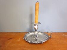 Antique English Sheffield Silver Plate Bedside Candle Holder, 1800 to 1849