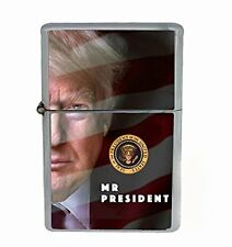 President Donald Trump 2016 D7 Windproof Refillable Flip Top Oil Lighter