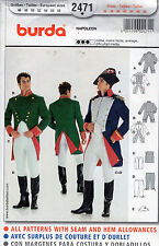 2471 NEW BURDA MEN'S NAPOLEON COSTUME Pattern Sz 36-48 JACKET, VEST, PANTS & HAT