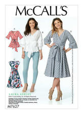 McCalls Sewing Pattern 7627 M7627 Misses Wrap Tops and Dress Size 14-22
