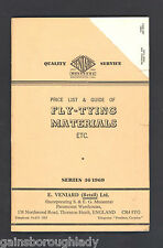 FLY-TYING MATERIALS - PRICE LIST & GUIDE - E. VENIARD,- FISHING- 46/1969