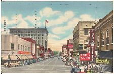 Central Avenue and Fourth Street in Albuquerque NM Postcard 1956