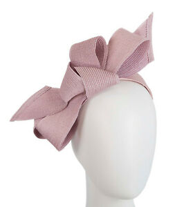 Dusty pink spring racing large bow fascinator by Max Alexander. RRP: $119.95