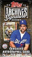 2016 Topps Archives Signature Series Baseball Hobby Box - Factory Sealed!