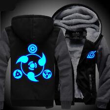 Anime NARUTO Akatsuki Clothing Thicken Jacket Cosplay JK Sweater Hoodie Luminous