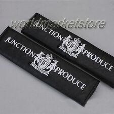 2x NEW BLACK JUNCTION PRODUCE JP DAD CAR SEAT BELT LEATHER SHOULDER PAD SHOLDER