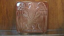 "FRANKOMA Plainsman Brown 6"" Square Eagle Trivet - Pattern 2TR  VERY HARD TO FIND"