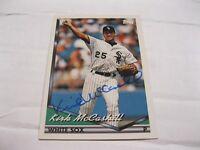 Kirk McCaskill AUTOGRAPHED BASEBALL CARD