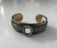 Mikal Winn Crystal Cuff Bracelet Signed