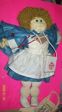 cabbage patch soft sculptured doll  CAMP CABBAGE 1991 NURSE PAYNE HANDSIGNED BY