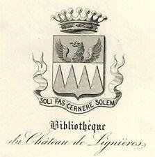 EX-LIBRIS de Charles-Édouard LANGLOIS DE SEPTENVILLE. Picardie.