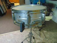 DIXIE Snare Drum. Vintage 1960s  Ludwig throw, Ludwig snares. ALMINUM SHELL.