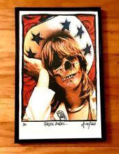 Gram Parsons Skull framed fine art print Signed #d Poster Hippie flying burrito
