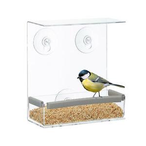Vogelfutterhaus Fensterscheibe Vogelstation Vogelfutterspender transparent Acryl