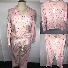 Cath Kidston Ladies Brushed Cotton Alpaca In Hats PJ Set  -  RRP £55.00