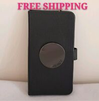 FREE POST MIMCO MATTE BLACK WAVER FLIP CASE FOR IPHONE 6P/7P/8P FULL LEATHER