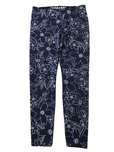 Nike Women's Blue/White Hawaiian Floral Print Leggings 823703 Sz L