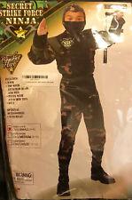 Secret Strike Force Ninja Boys Fancy Dress Costume Children SIZE SMALL 4-6 NEW