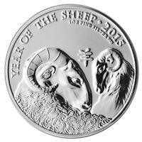 2015 1 oz *BU* Silver UK Great Britain Lunar Year of Sheep £2 British Mint Coin