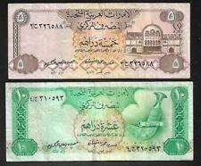 United Arab Emirates - 5 & 10 Dirhams Notes (1982) P7 & 8 - VF