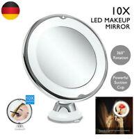 Neu Kosmetikspiegel Rasier LED Schminkspiegel 10-fach Vergrößerung Beleuchtung