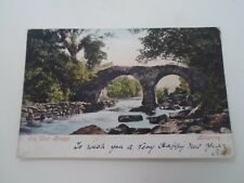 Vintage Postcard OLD WEIR BRIDGE, KILLARNEY  Franked+Stamped 1904  §A382