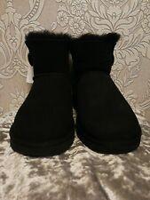 Gorgeous UGGs Women's Bailey Button Short Black UK 6.5, Sheepskin, EUR 39 BNWT