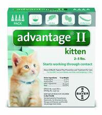 Bayer Advantage II Kitten Flea Treatment for Kittens 2 - 5 lb 4 doses