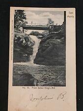 Antique POSTCARD c1907 East Morris, CT., Scene Below Kings Mill, River Falls