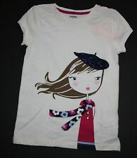 New Gymboree Ivory Parisian Girl Sparkle Tee Top Shirt Size 6 yr NWT Charm Class