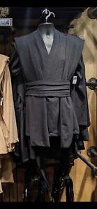 STAR WARS GALAXY'S EDGE JEDI TUNIC ROBE COSTUME BLACK SIZE ADULT 2XL/3XL + BONUS