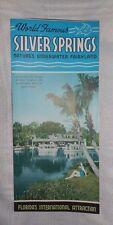 Vtg Brochure Silver Springs Ocala Florida Daytona Beach Hwy Glass Bottom Boats
