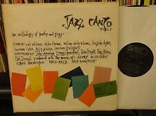 JAZZ CANTO vol.1 anthology of poetry and jazz JOHN CARRADINE Chico Hamilton NM-