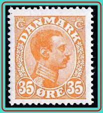 DENMARK 1913 KING SC#114 MH OG  CV$29.00 period GUM, light CREASE