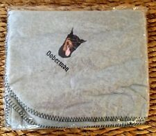 Embroidered Personalized Doberman Pinscher Fleece Throw Dog Lover Gift Blanket