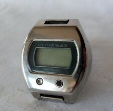 589966f3e273f Vintage Collectible Digital Watch Citizen Crystron LC Quartz Button at front