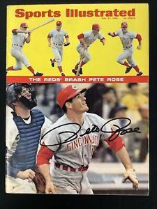 Pete Rose Signed Sports Illustrated 5/27/68 No Label Baseball Reds Auto HOF JSA