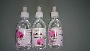 Naturreines Rosenwasser/Rosenblütenwasser 3x 250ml, 2,96€/100ml orig aus Marokko