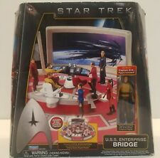 STAR TREK U.S.S. ENTERPRISE BRIDGE PLAYMATES 2009 WITH CAPTAIN KIRK FIGURE