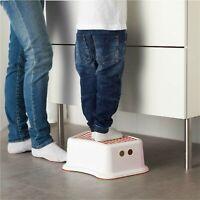 Children's Pink Plastic Non-Slip Step Stool Toilet Potty Training Aid Bathroom