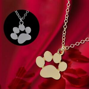 Gifts Jewelry Women Fashion Pendant Necklace Chain Dogs Footprints Cat Paw