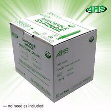 Syringes 20cc Luer Lock Sterile 50/bx No Needle AH20L